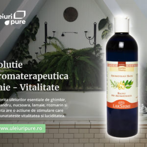 Solutie aromaterapeutica baie Kapha, Lakshmi, 500 ml, sinergie, vitalitate