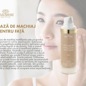 Baza de machiaj fata, Lakshmi, 30 ml, aspect matifiant, make up organic