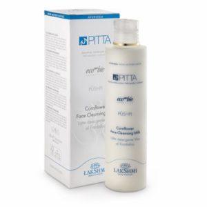 Lapte demachiant cu floarea de albastrele 200 ml, pentru pielea sensibila si cu tendinte de inrosire, gama Pitta