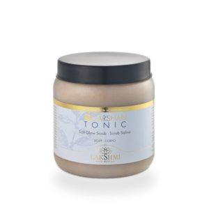 Scrub salin Garshan Tonic, 500 gr, organic, cu actiune de detoxifiere, elimina celulele moarte
