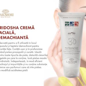 Crema faciala demachianta, Lakshmi, 100 ml, adecvata pentru toate tipurile de piele, se foloseste in locul sapunului sau a laptelui demachiant